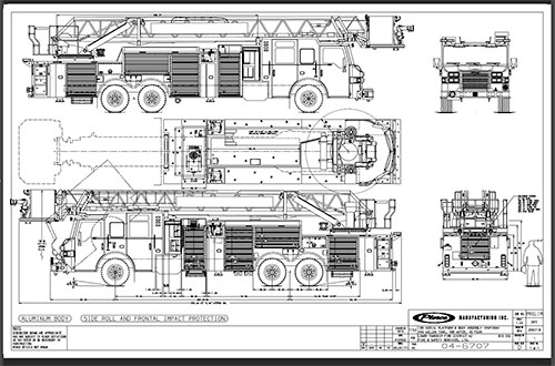 2020 Peirce Velocity PUC Heavy Duty Steel Aerial Platform Fire Truck Information