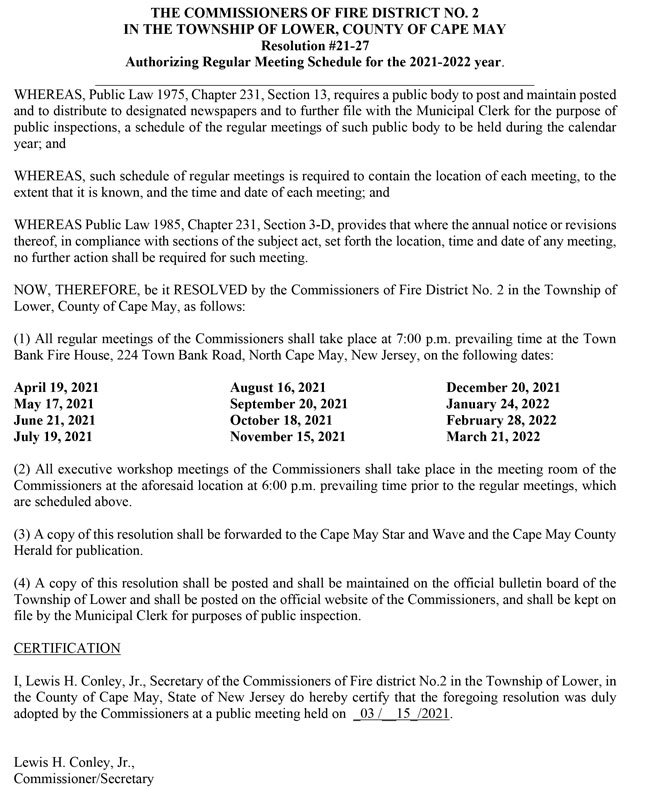 Reso-21-27-Authorizing-Meeting-Schedule-Fire-Dist-2-Lower-Twp.